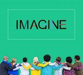 Imagine Imagination Vision Creative Dream Ideas Concept poster
