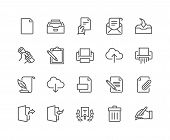 Simple Set of Document Related Vector Line Icons. Contains such Icons as Printer, Shredder, Legal Document, Archive, Handwriting and more. Editable Stroke. 48x48 Pixel Perfect. poster