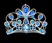 illusillustration crown tiara women with glittering precious stonestration crown tiara women with glittering precious stones poster