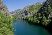 The idyllic Matka Lake in The Canyon Matka National park, Macedonian Pearls poster