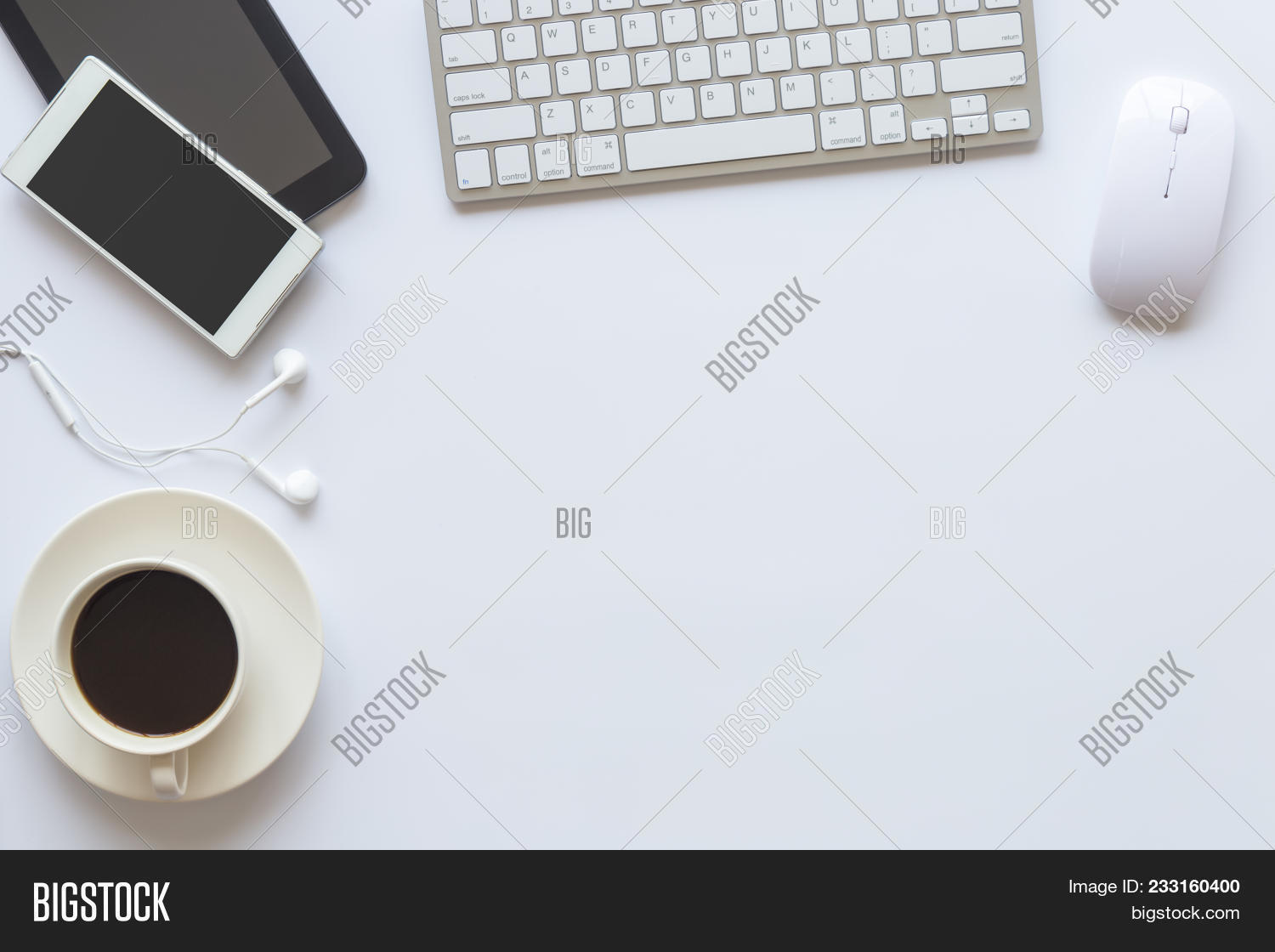 office table top view. Brilliant View Top View Of An Desk Office Table White With Cup Coffee To Table