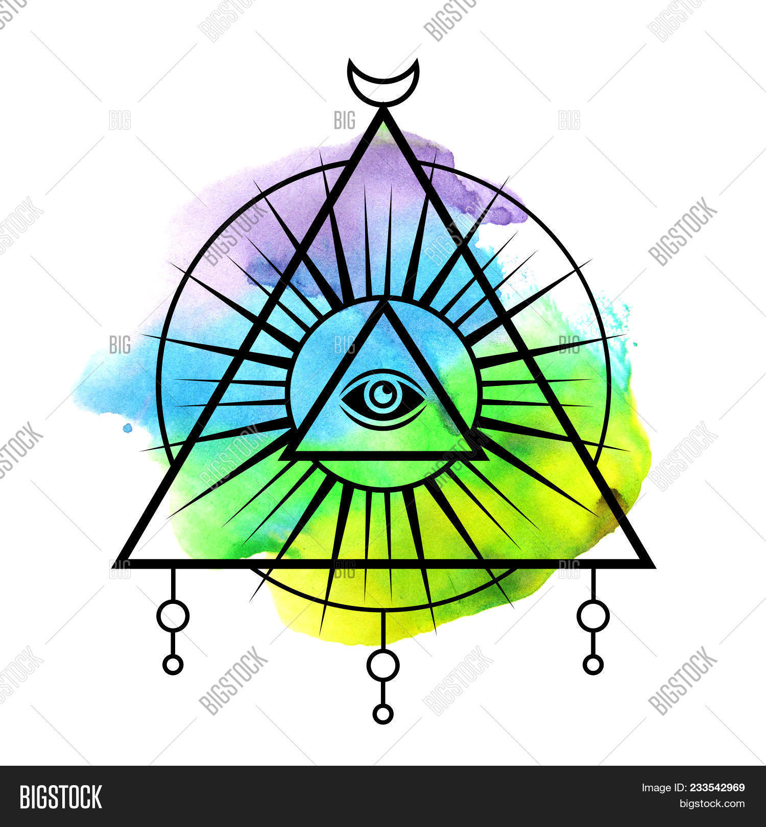 All Seeing Eye Symbol Image Photo Free Trial Bigstock