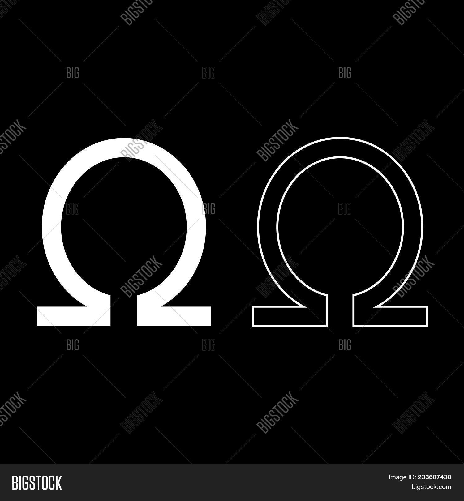 Symbol Omega Icon Set Vector Photo Free Trial Bigstock