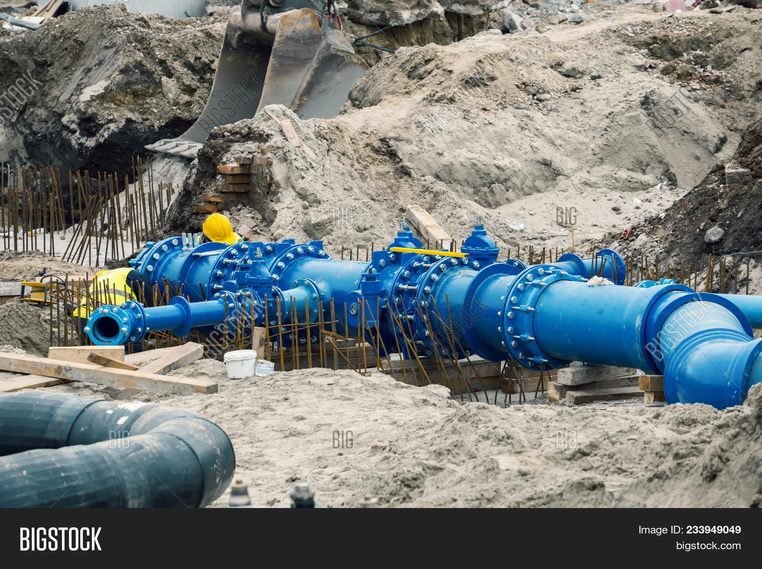 Workers Laid Water Image & Photo (Free Trial) | Bigstock