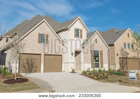 Brand New Two Story Residential House In Suburban Irving, Texas, Usa
