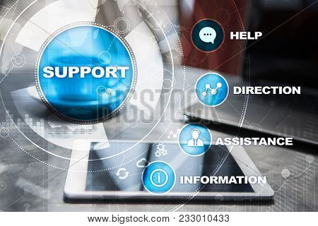 Technical Support. Customer Help. Business And Technology Concept