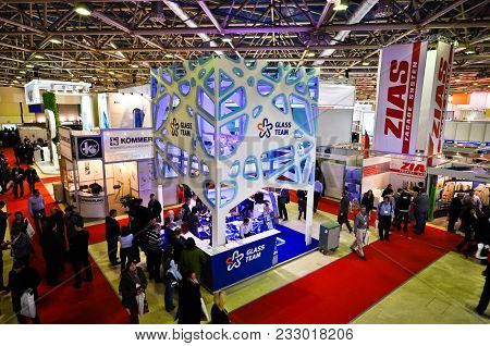 Glass Team Booth At Mosbuild 2012 Exhibition, April, 11 2012, Moscow, Russia