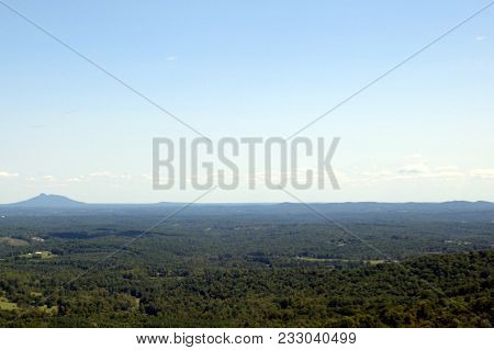 Vast Open Valley In The Applactian Mountains Under A Clear Blue Sky In Summer Filled With Lush Green