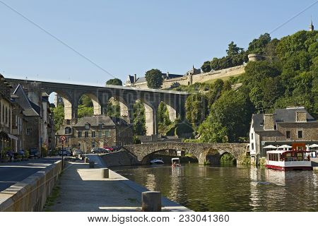 The Old Viaduct Connects Dinan With Lanvallay