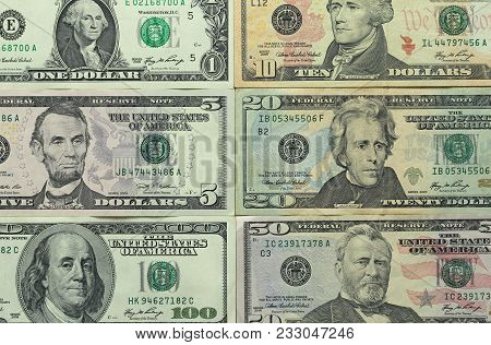 One Hundred Dollars With One Note. Money Background.