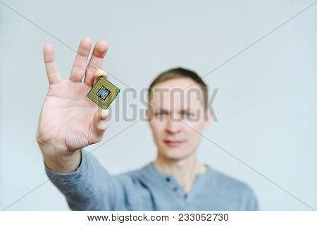 Cpu In The Man's Hand.