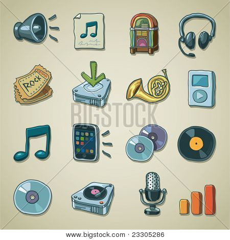 Freehands icons - audio & sound