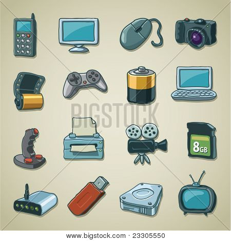 Freehands icons - computers & electronics