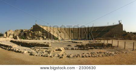 Ancient Roman Theater In Caesarea, Israel