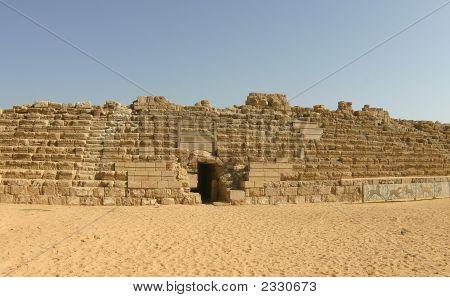 Ancient Roman Hippodrome In Caesarea, Israel