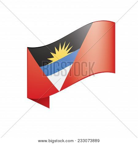 Antigua And Barbuda Flag, Vector Illustration On A White Background