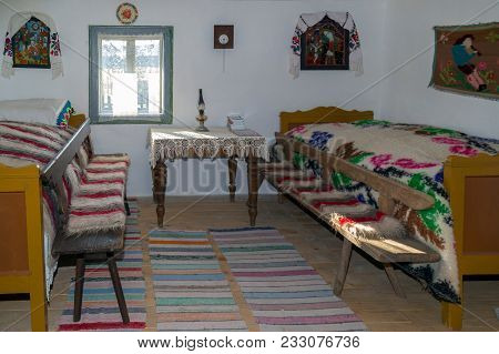Repedea, Romania - November 29, 2016: Specific Objects From One Interior Of Romanian Farmhouse, The