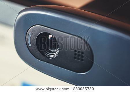 Modern Web Camera, Close Up, Macro Photo