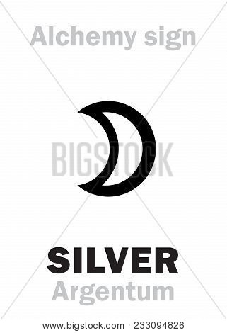 Alchemy Alphabet: Silver (argentum, Luna; Artemis) -- Metal Of The Moon, Precious/noble/value Metal.