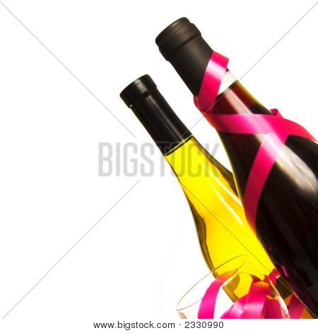 Bottles, Glass And Ribbons