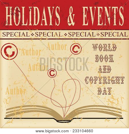 Old Information Sheet - Holidays And Events For World Book And Copyright Day