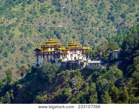 Trashigang Dzong - Eastern Bhutan. Trashigang Dzong, The Fortress Of The Auspicious Hill, Is One Of