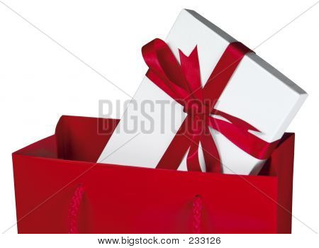 Red Gift Bag [close-up]