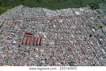 Densely Populated Township In South Africa, From Above