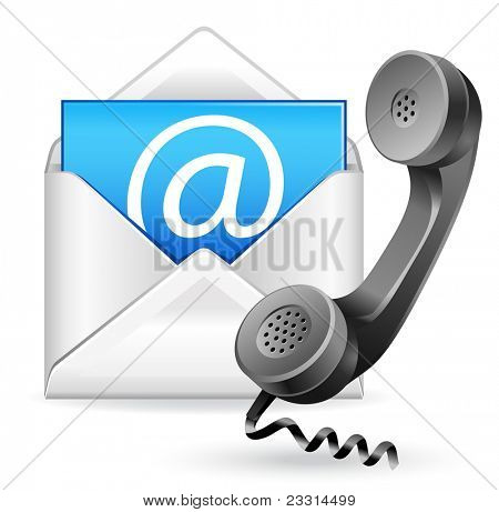 Kontakt Vektor-Symbol-e-Mail und Telefon