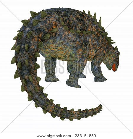 Polacanthus Dinosaur Tail 3d Illustration - Polacanthus Was An Armored Herbivorous Dinosaur That Liv