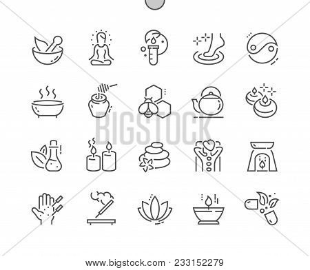 Alternative Medicine Well-crafted Pixel Perfect Vector Thin Line Icons 30 2x Grid For Web Graphics A
