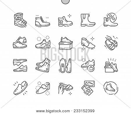 Men's Footwear Well-crafted Pixel Perfect Vector Thin Line Icons 30 2X Grid For Web Graphics And App