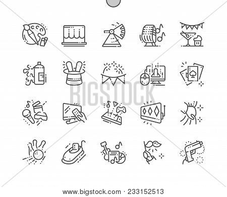 Entertainment Well-crafted Pixel Perfect Vector Thin Line Icons 30 2x Grid For Web Graphics And Apps