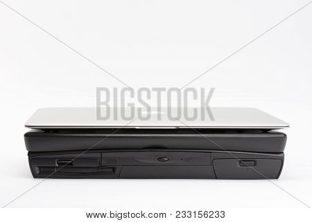 Brnenec, Czech Republic-june 5, 2016: Comparing Of Laptops, New Modern Apple Macbook Air 13-inch(201