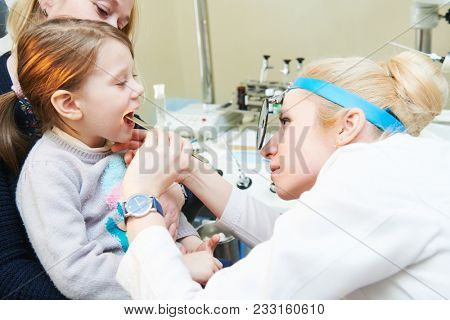 Ear, nose, throat examining. ENT doctor with a child. otolaryngology