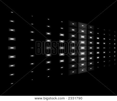 White Lights With Black Background Design