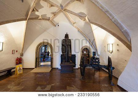 Salzburg, Austria - May 19, 2017: Museum At The Hohensalzburg Castle Or Festung Hohensalzburg Fortre