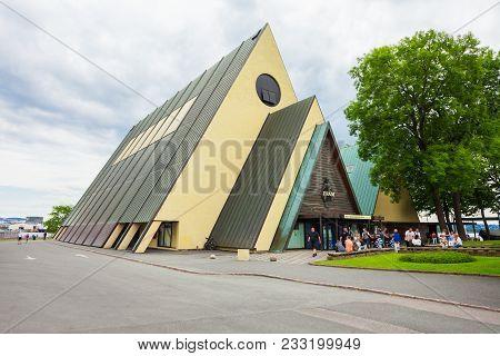 Oslo, Norway - July 21, 2017: The Fram Museum Or Frammuseet Is A Museum Of Norwegian Polar Explorati
