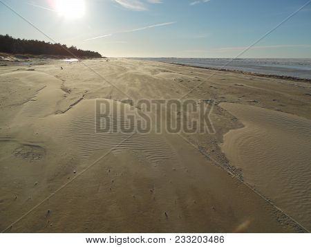 In The Winter By The Sea, Kolka In Latvia