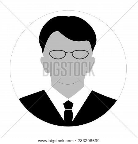 Profile Anonymous Face Icon. Gray Silhouette Person. Male Businessman Profile Default Avatar. Photo