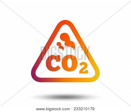 Co2 Carbon Dioxide Formula Sign Icon. Chemistry Symbol. Blurred Gradient Design Element. Vivid Graph