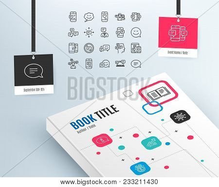 Message And Communication Icons. Group Chat, Conversation And Speech Bubbles Signs. Sms, Phone Alert