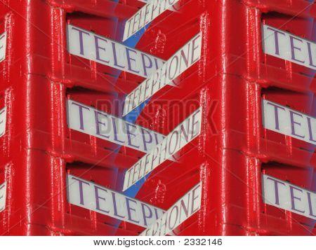 Abstract Phone Box Sign