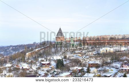 Smolensk. Pokrovsky Temple And The Theological Seminary Near The Fortress Wall And The Tower Of Vese