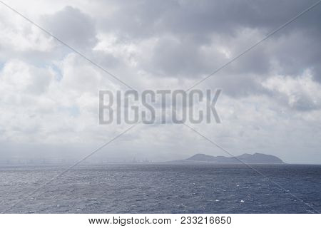 A View Of The Islands In The Atlantic Ocean. Expanses. The Waves Of The Cloud Are Water. Horizon