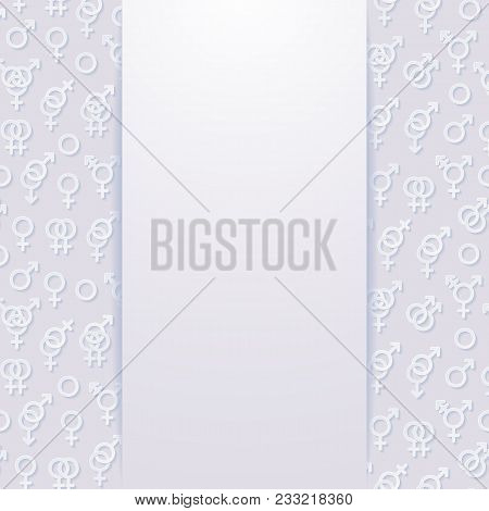 Abstract Background With Sexuality Symbols. Vector Illustration.