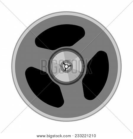 A Reel With A Tape. Vector Illustration