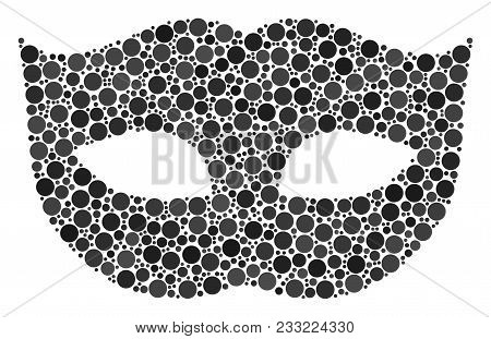 Privacy Mask Composition Of Round Dots In Variable Sizes And Color Shades. Filled Circles Are Compos