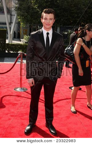 LOS ANGELES - SEP 10:  Chris Colfer arriving at the Creative Arts Emmys 2011 at Nokia Theater  on September 10, 2011 in Los Angeles, CA