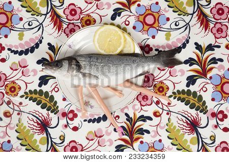 Fish Flower Plate Cannibal Doll